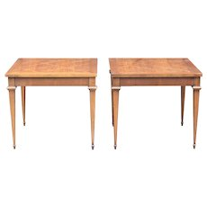 Lane altavista inlaid side tables with glass tops
