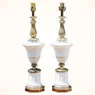 Stiffel lamps Brass and ceramic signature lamp