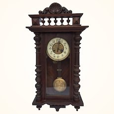 1860's Gustav Becker regulator wall clock
