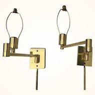 Hansen Lamps double swing arm wall lamps