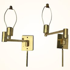 Hansen Lamps double swing arm wall lamps