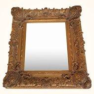 Vintage square heavy relief mirror