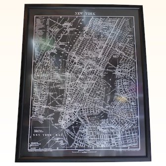 Topographical German map of NYC 1912