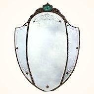 Large Venetian/Shield Mirror