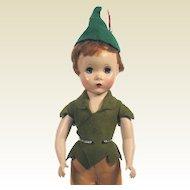 Vintage Madame Alexander Hard Plastic Maggie faced Peter Pan Doll