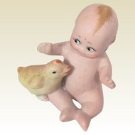 Antique Bisque Kewpie With Chick