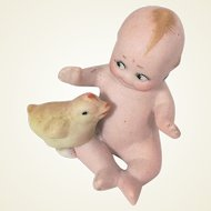 Antique Bisque Kewpie With Chick