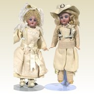 Antique French Franz Schmidt 293 Wedding Couple Dolls