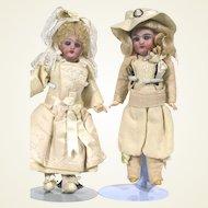 Antique French Franz Schmidt 293 Wedding Couple Dolls