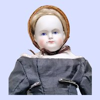 Early Alt Beck and Gottschalk (ABG) Biedermeier Parian Doll