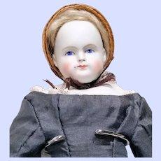 Early Alt Beck and Gottschalk (ABG) Biedermeier Parian Doll