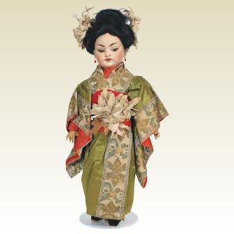 Antique Simon Halbig 1129 / 1199 Oriental bisque head Doll