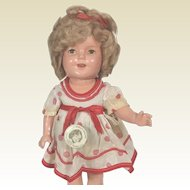 Composition Ideal Shirley Temple Doll with pin
