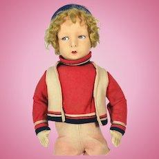 Vintage 1930's Alma Felt Boy Doll