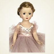 1950's Madame Alexander Margot hard plastic walker Ballerina Doll
