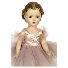 1950's Madame Alexander Margot hard plastic walker Ballerina Doll