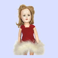 Madame Alexander Composition Sonja Henie Doll in Red