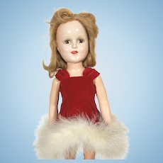Composition Sonja Henie Doll in Red