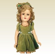 Composition Sonja Henie Doll in Green
