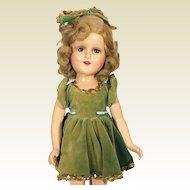 Composition Madame Alexander Sonja Henie Doll in Green