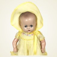 Vintage Horsman Composition Mama Doll Baby tagged dress