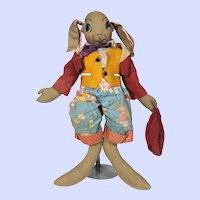 Cloth Uncle Wiggily Longears doll by Georgene Averill
