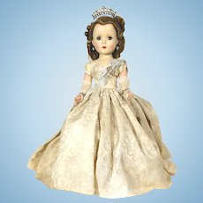 1953 Queen Elizabeth Margaret Faced hard plastic Doll by Madame Alexander