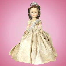 1953 Queen Elizabeth Margaret Faced Doll by Madame Alexander