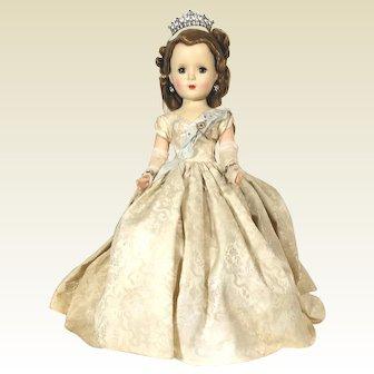 1953 Queen Elizabeth Margaret Faced hard plastic Doll by Madame Alexander
