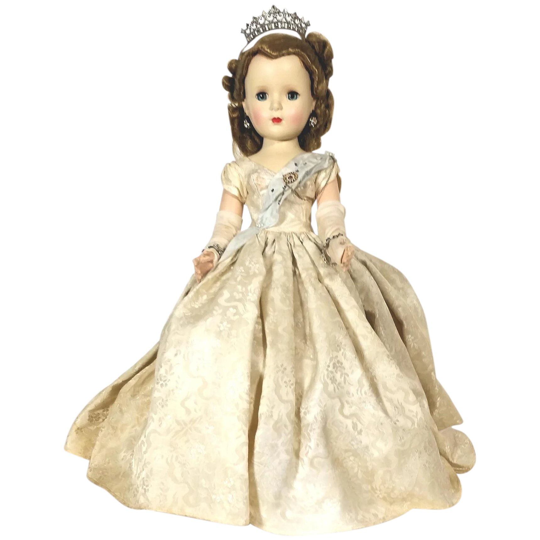 cheap for discount c8557 d7ec9 1953 Queen Elizabeth Margaret Faced hard plastic Doll by Madame Alexander
