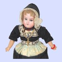 German Bisque Recknagel 1909 Dutch girl Doll