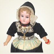 German Bisque Recknagel 1909 Dutch girl Doll