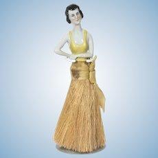 German china half doll clothes brush