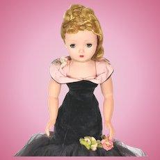 "Madame Alexander Cissy torso dress  ""Black Mermaid""  #2043 from 1956"