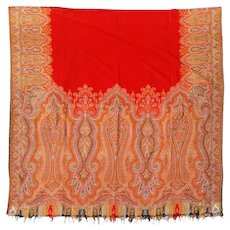 Antique Victorian Paisley / Cashmere  Shawl late 1800's to early 1900's
