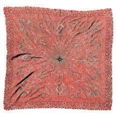 Signed antique hand sewn Paisley / Cashmere shawl mid 1800's