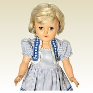 Ideal Toni Vintage Hard Plastic Platinum Blond P91 Doll (1949) in Bolero Dress