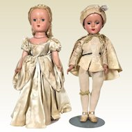 Madame Alexander Cinderella and Prince Charming hard plastic doll from 1950