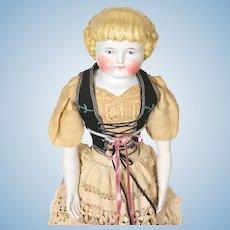 Alt Beck and Gottschalk (ABG) mold 1000 blond Norwegian Hardanger china head Doll