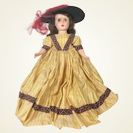 Nancy Ann Style Show Hard Plastic # 1501 Perky Miss Doll from the 1950's