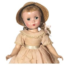 Madame Alexander 1950's hard plastic Maggie faced Polly Pigtails Doll