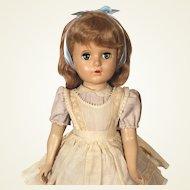 Madame Alexander Margaret faced Alice in Wonderland hard plastic doll