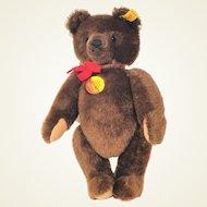 Steiff brown bear 0206/36 mohair Bear 1984 - 1987