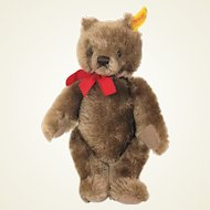 Steiff caramel colored bear 0202/26 mohair Bear 1984 - 1987
