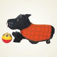 Schuco Tippy Scotty dog with ball US zone Germany
