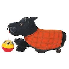 Schuco Tippy Scotty dog with ball US zone Germany