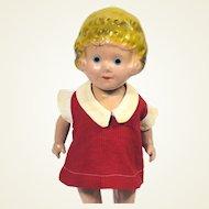 Vintage Freundlich Little Orphan Annie Composition Doll