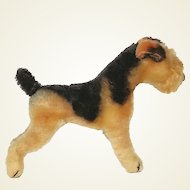 """Steiff  """"Terry"""" Airedale Terrier post WW II Us Zone Germany from 1950's"""