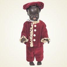 Vintage rubber / vinyl 50's African American black boy doll