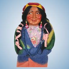 Vintage composition Skookum Indian Squaw Doll